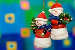 Juguetes del muñeco de nieve de la Navidad Imagenes de archivo