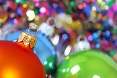 Juguetes del piel-árbol del Año Nuevo Imagen de archivo