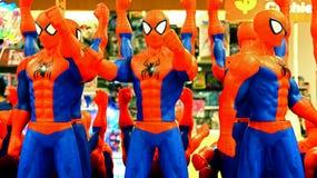 Juguetes del plástico del hombre araña Fotos de archivo libres de regalías