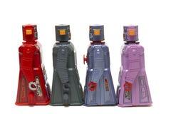 Juguetes del robot de la lata del vintage Fotos de archivo