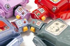 Juguetes del robot de la lata del vintage Imagen de archivo libre de regalías