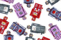 Juguetes del robot de la lata del vintage Imagen de archivo