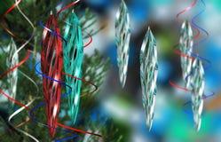 Juguetes del ` s del Año Nuevo Fondo de la Navidad de los carámbanos Imágenes de archivo libres de regalías