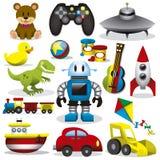 Juguetes del vector fijados Imagen de archivo libre de regalías