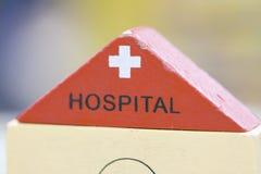 Juguetes educativos determinados de madera de Toy Set Play del hospital para el preescolar Imágenes de archivo libres de regalías