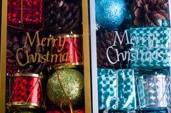 Juguetes embalados hermosos de la Navidad, Imagen de archivo