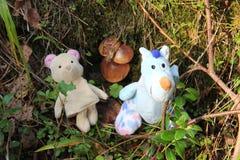 Juguetes en el bosque Imagen de archivo