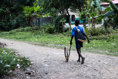 Juguetes hechos en casa en Haití Imágenes de archivo libres de regalías