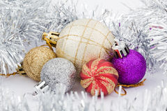 Juguetes para el árbol de navidad Foto de archivo