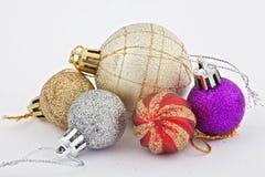 Juguetes para el árbol de navidad Foto de archivo libre de regalías