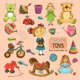 Juguetes para la muchacha Imágenes de archivo libres de regalías