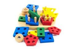 Juguetes para los niños, rompecabezas, geometría Foto de archivo libre de regalías