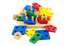 Juguetes para los niños, rompecabezas, geometría Imágenes de archivo libres de regalías