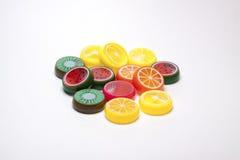 Juguetes plásticos de la fruta Imagen de archivo