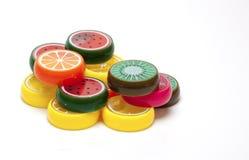 Juguetes plásticos de la fruta Fotos de archivo