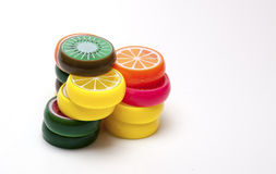 Juguetes plásticos de la fruta fotografía de archivo libre de regalías
