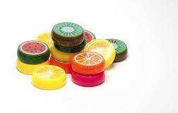 Juguetes plásticos de la fruta fotos de archivo libres de regalías