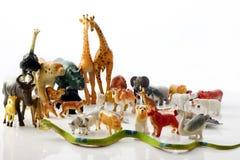 Juguetes plásticos de los animales Imagen de archivo