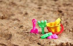 Juguetes plásticos para los cabritos Imagen de archivo