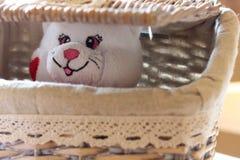 Juguetes suaves - oso blanco Imagen de archivo