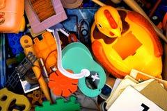 Juguetes usados Imagen de archivo libre de regalías