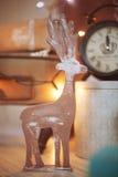 Juguetes y diseño de la Navidad en casa Foto de archivo