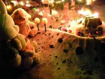 Juguetes y muñecos de nieve de la felpa Imágenes de archivo libres de regalías