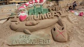 Juhu是孟买一个高级邻里  免版税库存照片