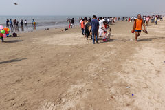 Juhu Beach, Mumbai Royalty Free Stock Images