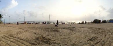 Juhu beach Panorama, Mumbai, India. Stock Photo