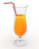 Juice. Orange juice drink isolated on white Royalty Free Stock Photos