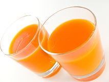 Juice. Glass of juice on white background Royalty Free Stock Images