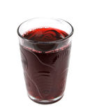 Juice. Black currant juice in shell adornment glass isolated on white background Stock Photo