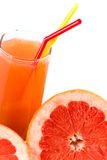 Juice And Grapefruit Royalty Free Stock Photography