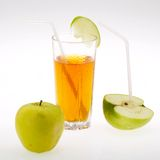 Juice and apple Royalty Free Stock Images