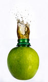 Juice in the apple. Fresh juice in the apple Royalty Free Stock Photography