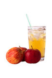 Juice and an apple Royalty Free Stock Images
