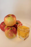 Juice and apples Stock Images