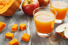Juice of apples and pumpkins Royalty Free Stock Image
