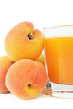 Juice with apricot. Stock Image