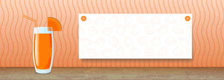 Juice Banner Abóbora Fotos de Stock