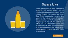 Juice Banner Concept orange illustration stock