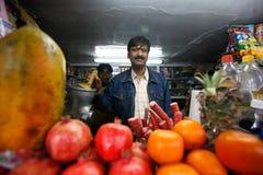 Juice bar in Delhi stock photo