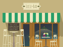 Juice bar illustration Royalty Free Stock Images