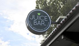 Juice Bar Sign Memphis TN Arkivbild