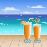 Juice on the beach Stock Photography