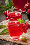 Juice of berries Stock Photography