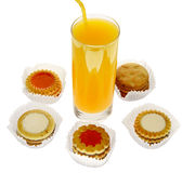 Juice with biscuit Royalty Free Stock Photos