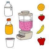 Juice Blender Item Set. An image of a juice blender item set royalty free illustration