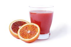 Juice of blood orange Stock Photo